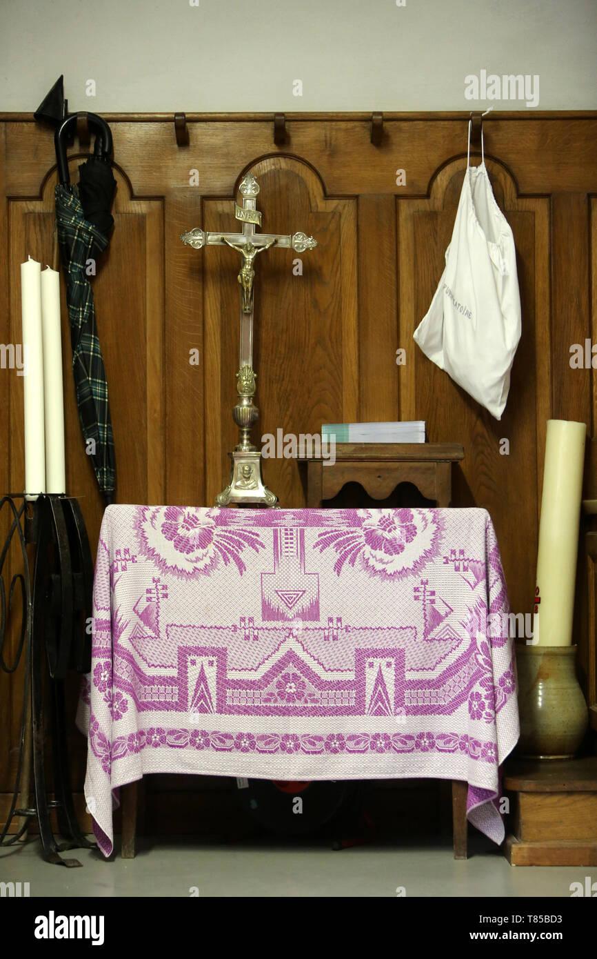 Sacristie. Eglise Saint-Gervais-et-Protais. Saint-Gervais-les-Bains. Stock Photo