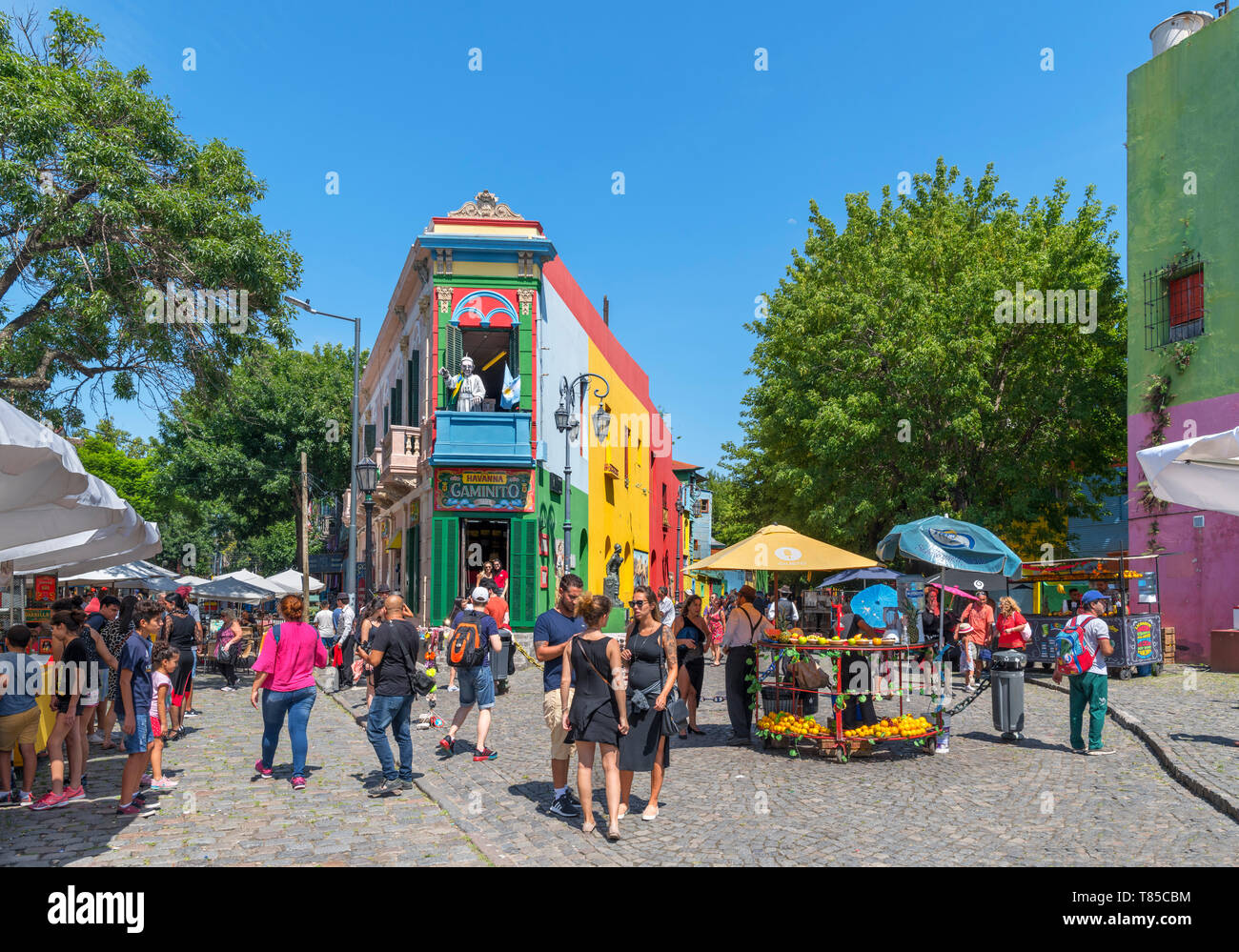El Caminito, a colourful street in La Boca district of Buenos Aires, Argentina - Stock Image