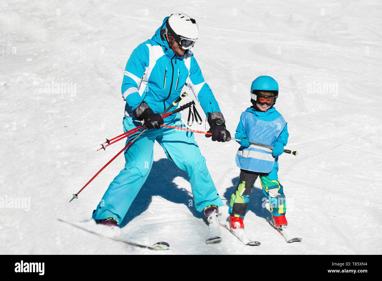 Ski school - Stock Image