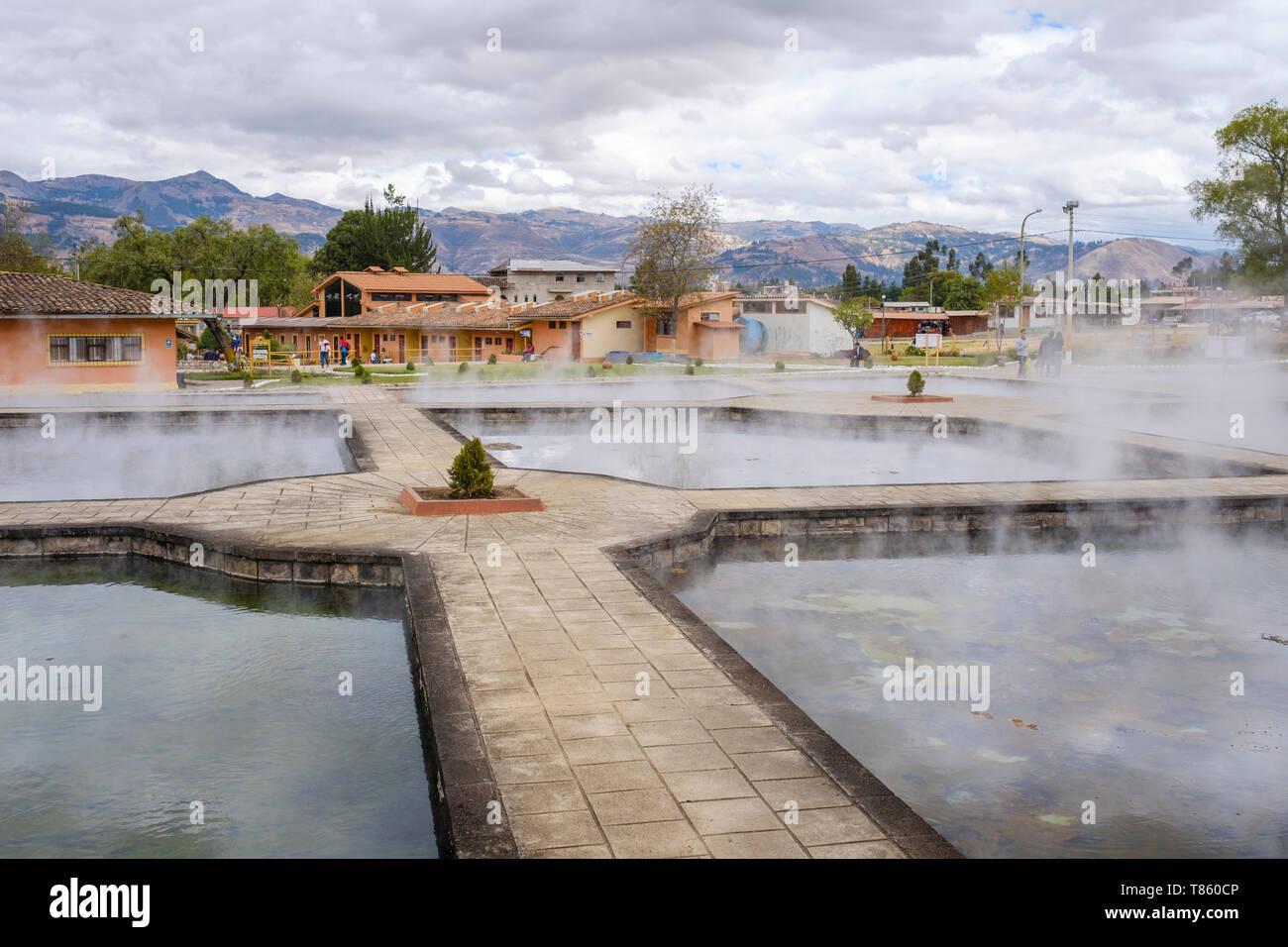 Banos Del.Outdoor Thermal Pools At Los Banos Del Inca Near Cajamarca