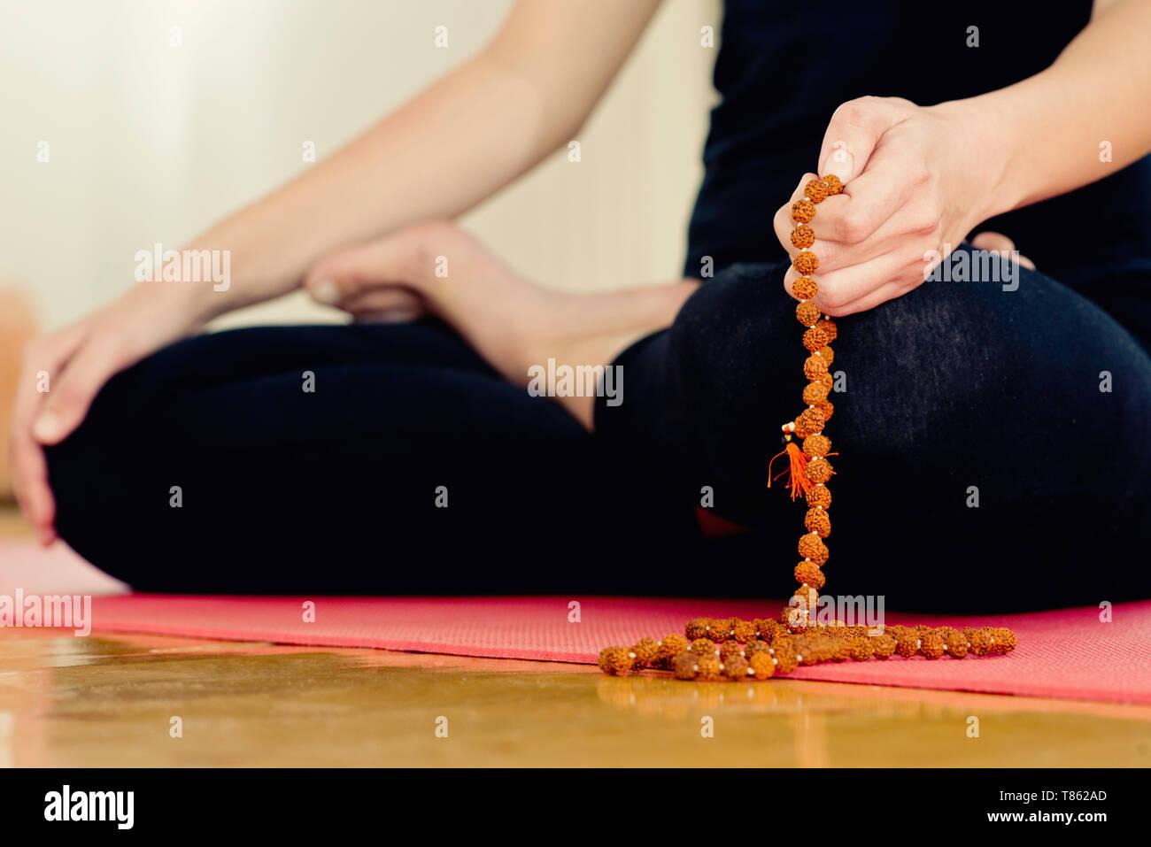 Yoga meditation - Stock Image