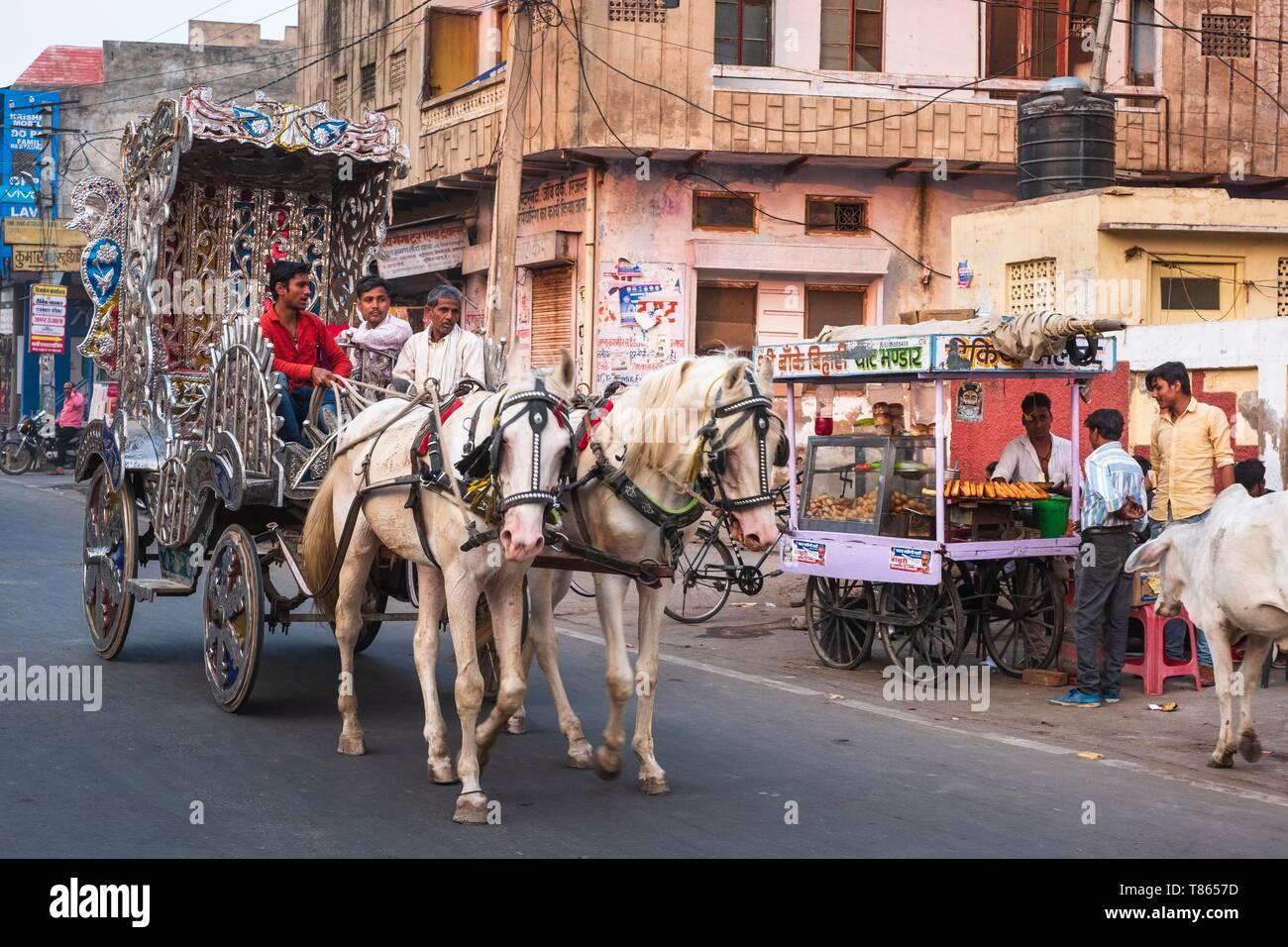 India, Rajasthan, Bharatpur, old city - Stock Image
