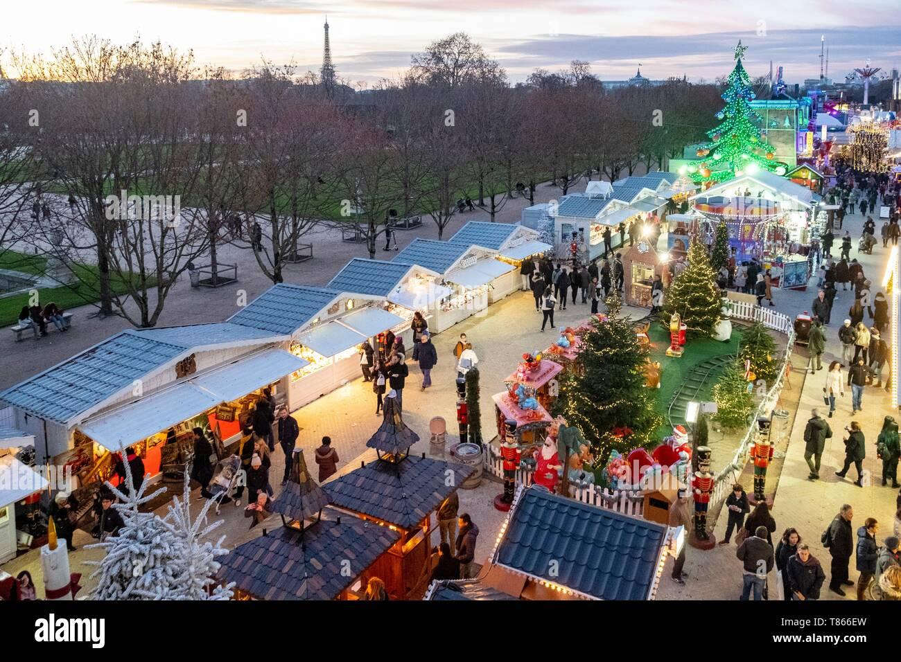 France Paris Tuileries Garden The Christmas Market Stock Photo