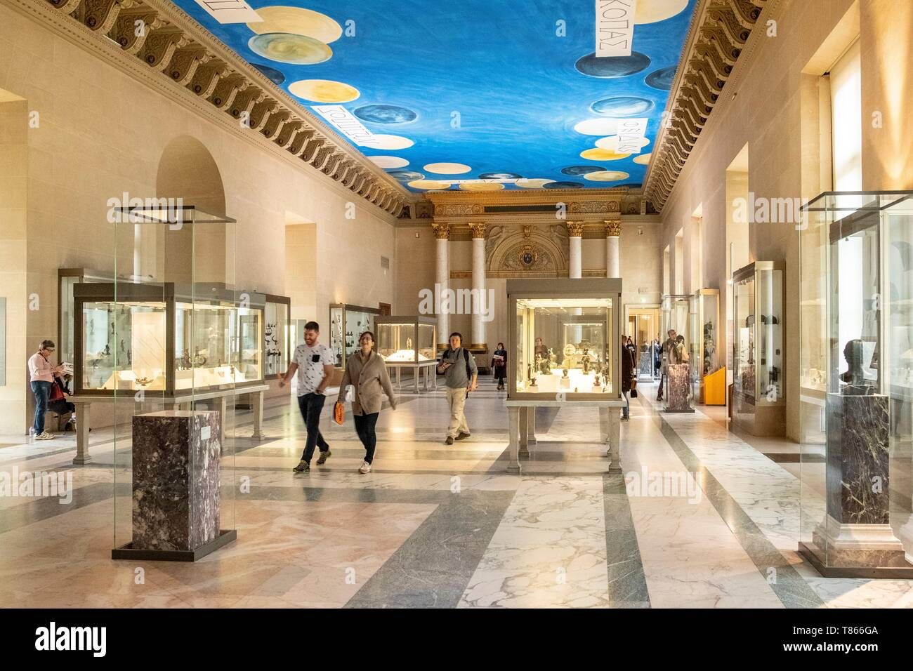 France, Paris, the Louvre Museum, Department of Greek, Etruscan and Roman Antiquities, the Bronzes Room 32 - Stock Image