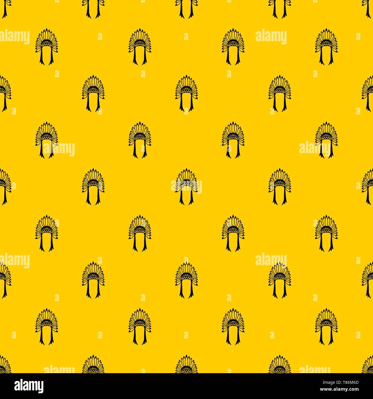 Indian headdress pattern vector - Stock Image
