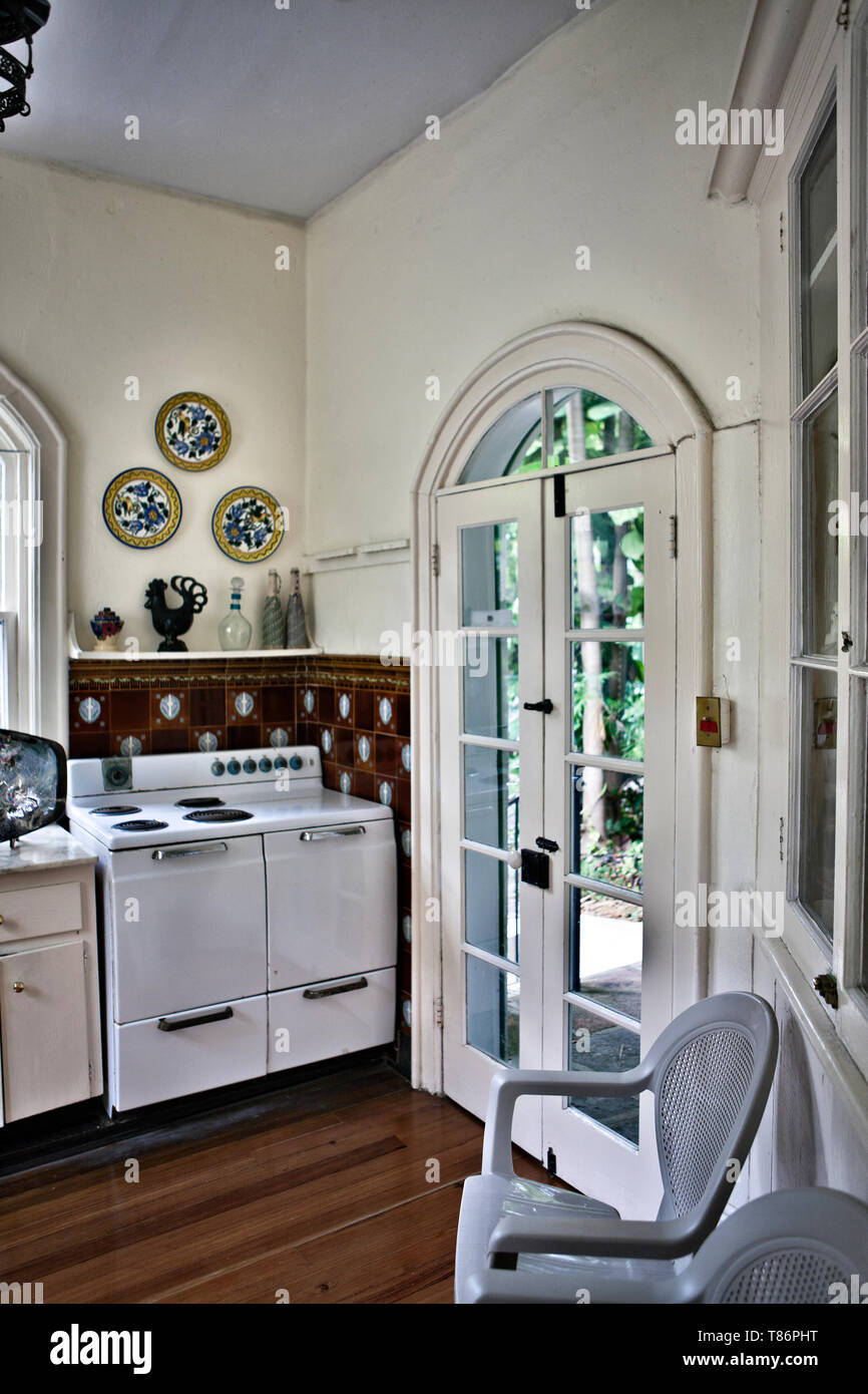 Kitchen in an Old-Fashioned Home - Stock Image