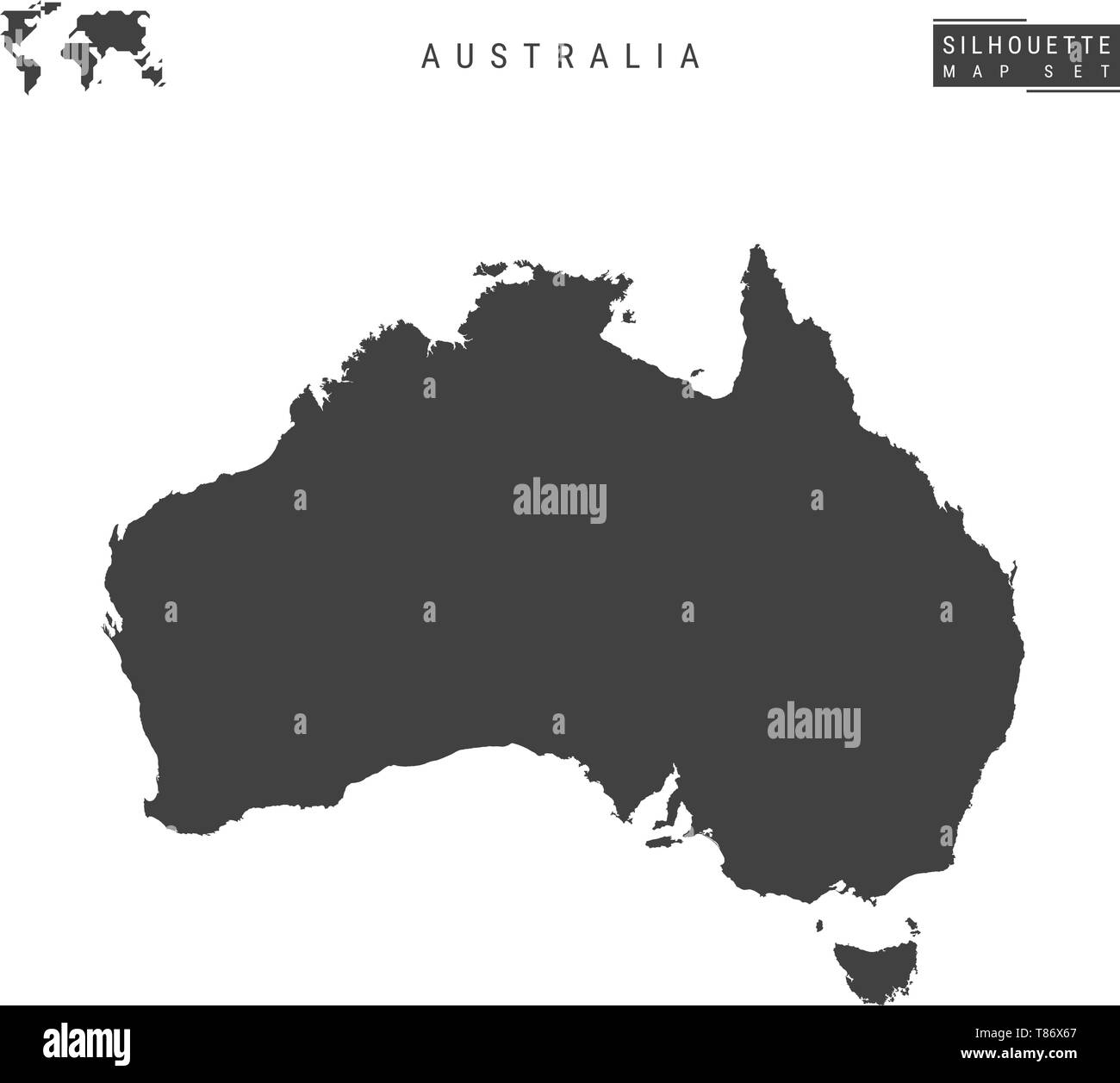 Map Of Australia Blank.Australia Blank Vector Map Isolated On White Background High