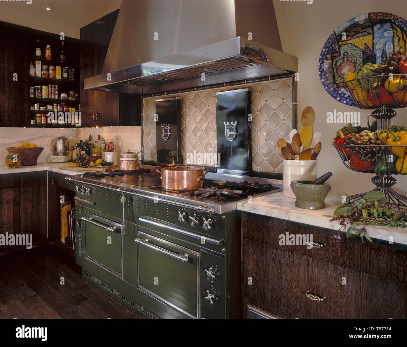 Rustic Kitchen - Stock Image