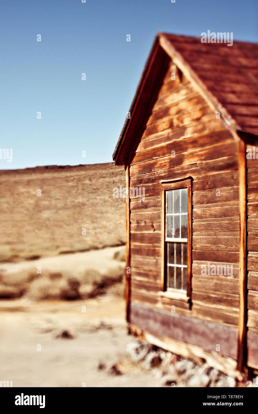 Building against Desert Landscape - Stock Image