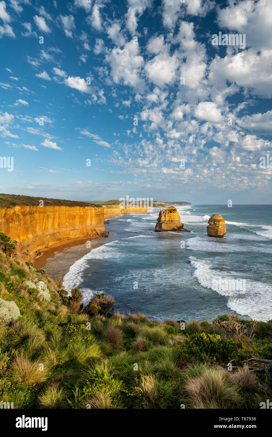 The famous Twelve Apostles at Victoria's Great Ocean Road. Stock Photo
