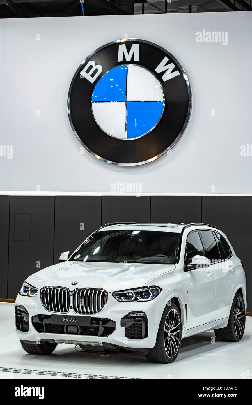 The Brand Logo And The New Bmw X5 Car Model Of The Bmw Car Manufacturer Seen During The Event The Automobile Barcelona Trade Fair Celebrates 100 Years The Event Takes Place From