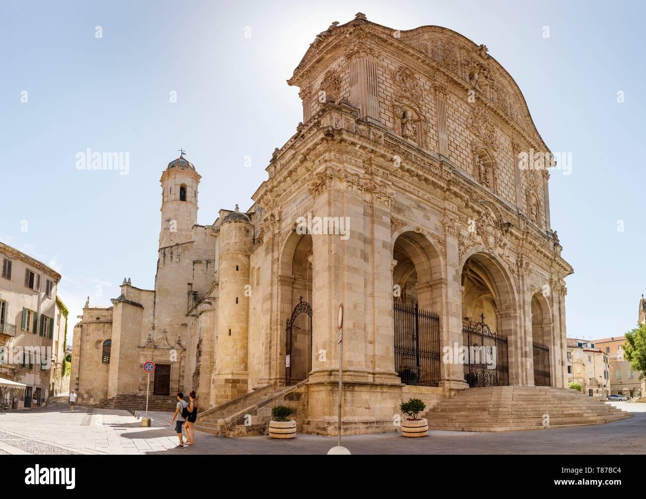 Italy, Sardinia, Sassari Province, Sassari, Il Duomo cathedral - Stock Image