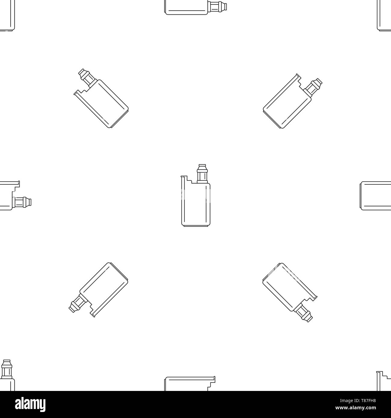 Vape box pattern seamless vector repeat geometric for any web design - Stock Image