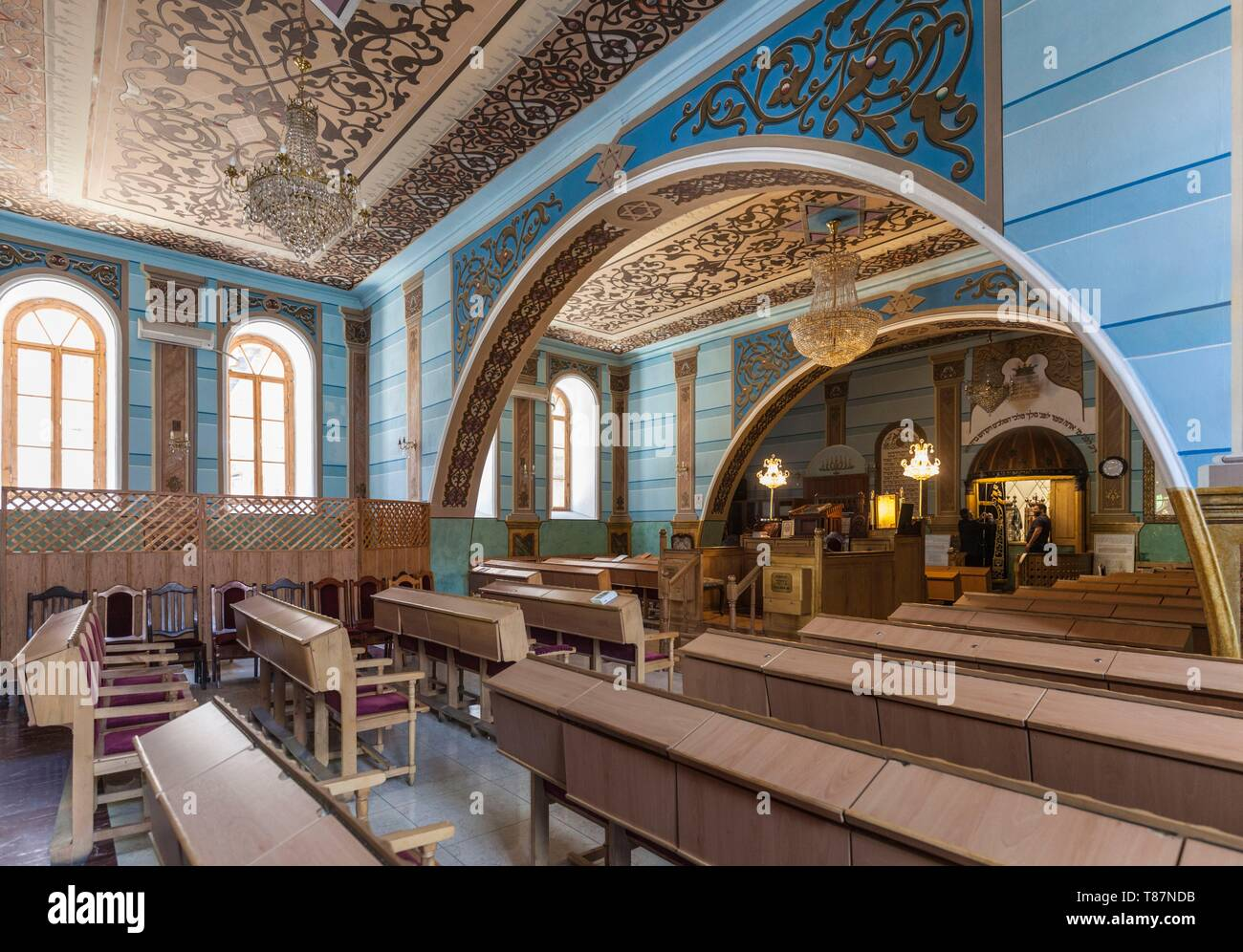Georgia, Tbilisi, Tbilisi Great Synagogue, interior - Stock Image