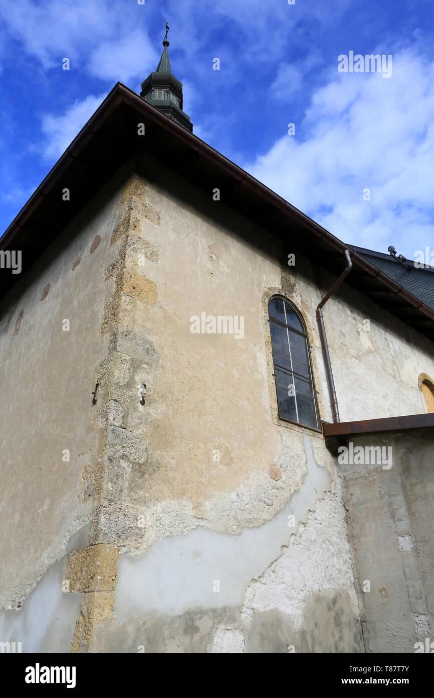 Eglise de Saint-Gervais et Protais avant rénovation. 2015. Saint-Gervais-les-Bains. Stock Photo