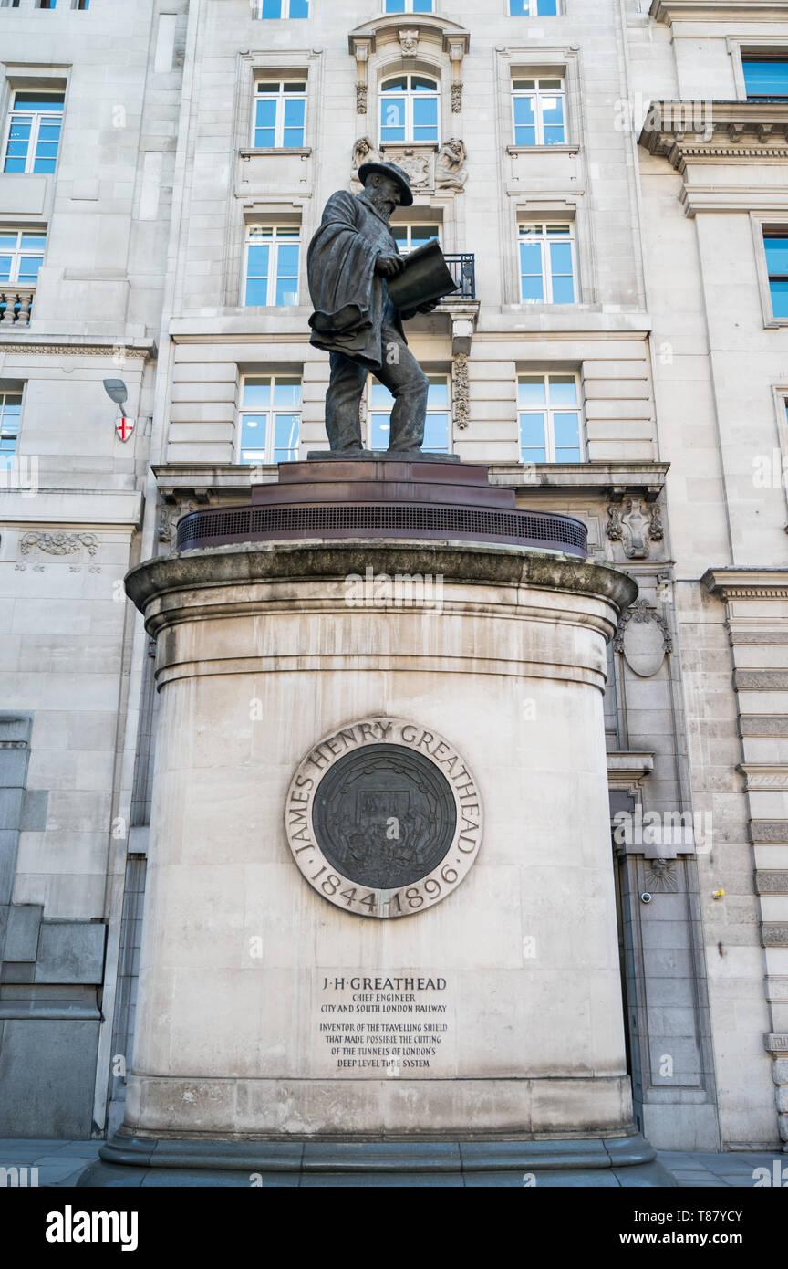 James Greathead, City of London - Stock Image