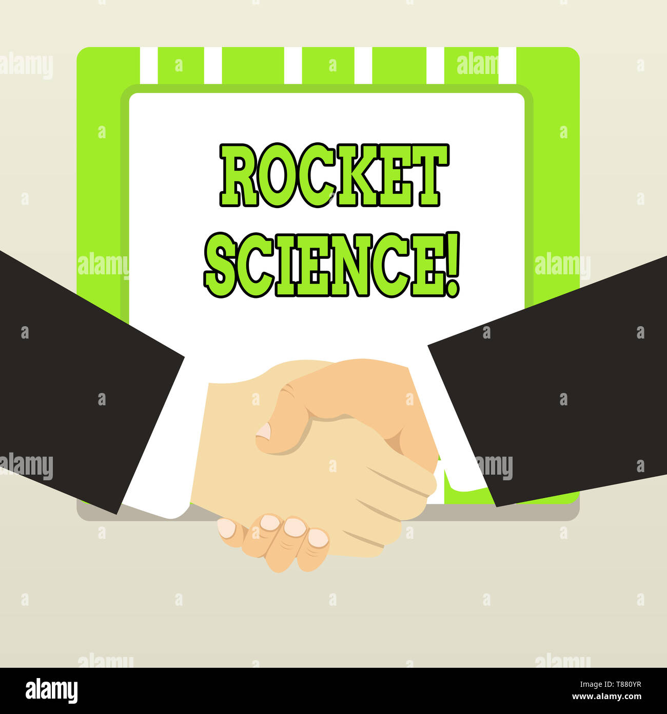 Handwriting text Rocket Science. Conceptual photo difficult activity that you need to be intelligent to do - Stock Image