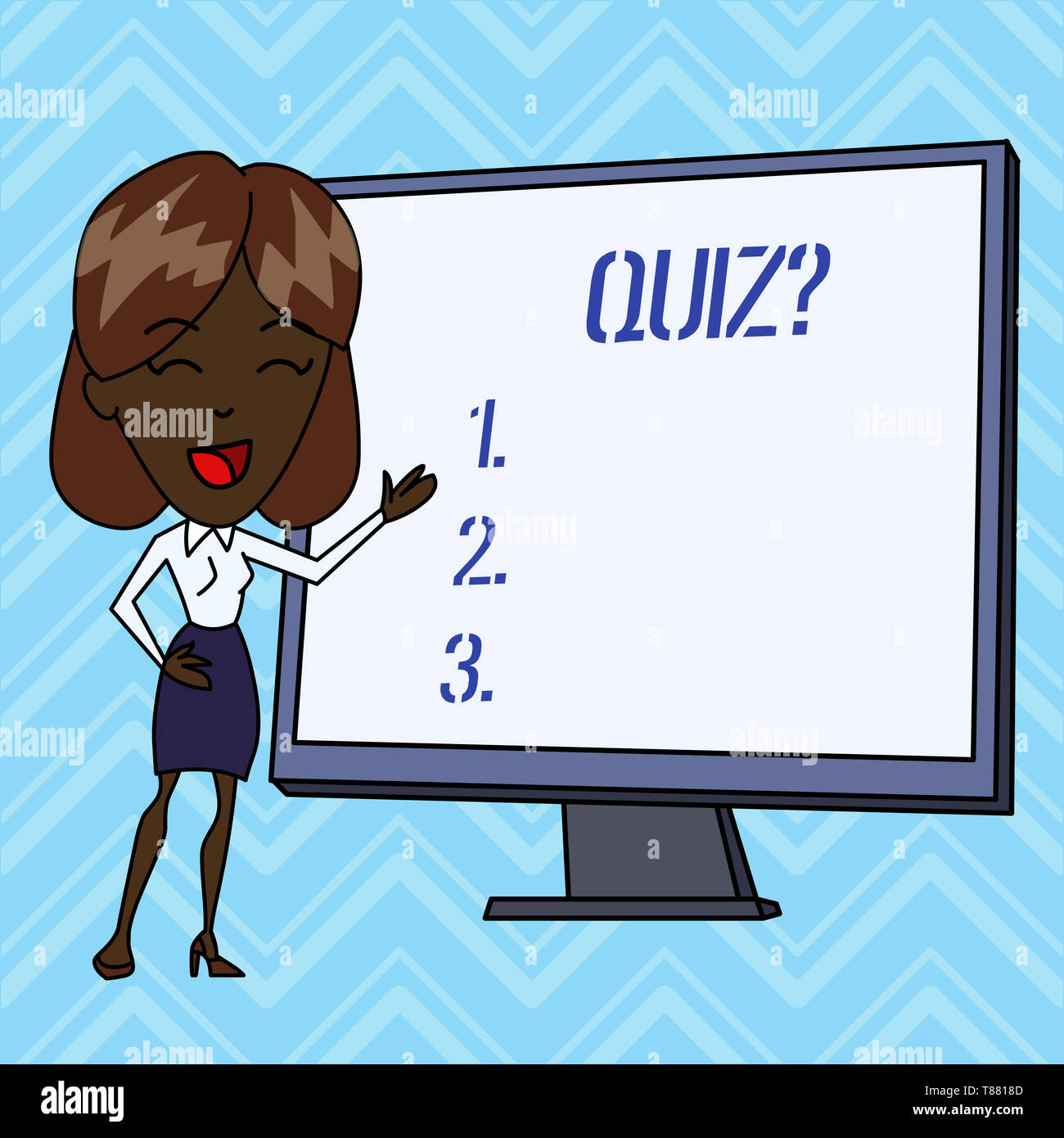 Handwriting text writing Quiz Question. Conceptual photo test of knowledge as competition between individuals or teams - Stock Image