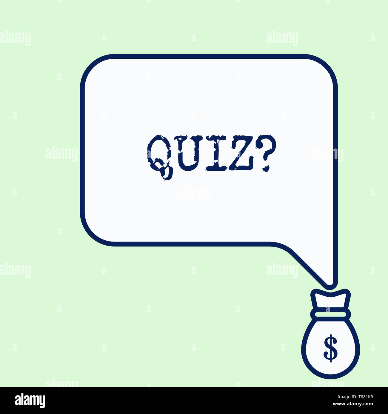 Text sign showing Quiz Question. Business photo showcasing test of knowledge as competition between individuals or teams - Stock Image