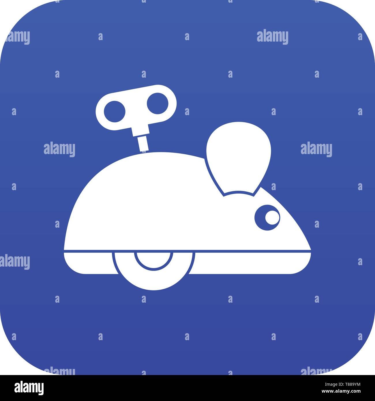 Clockwork mouse icon digital blue - Stock Vector