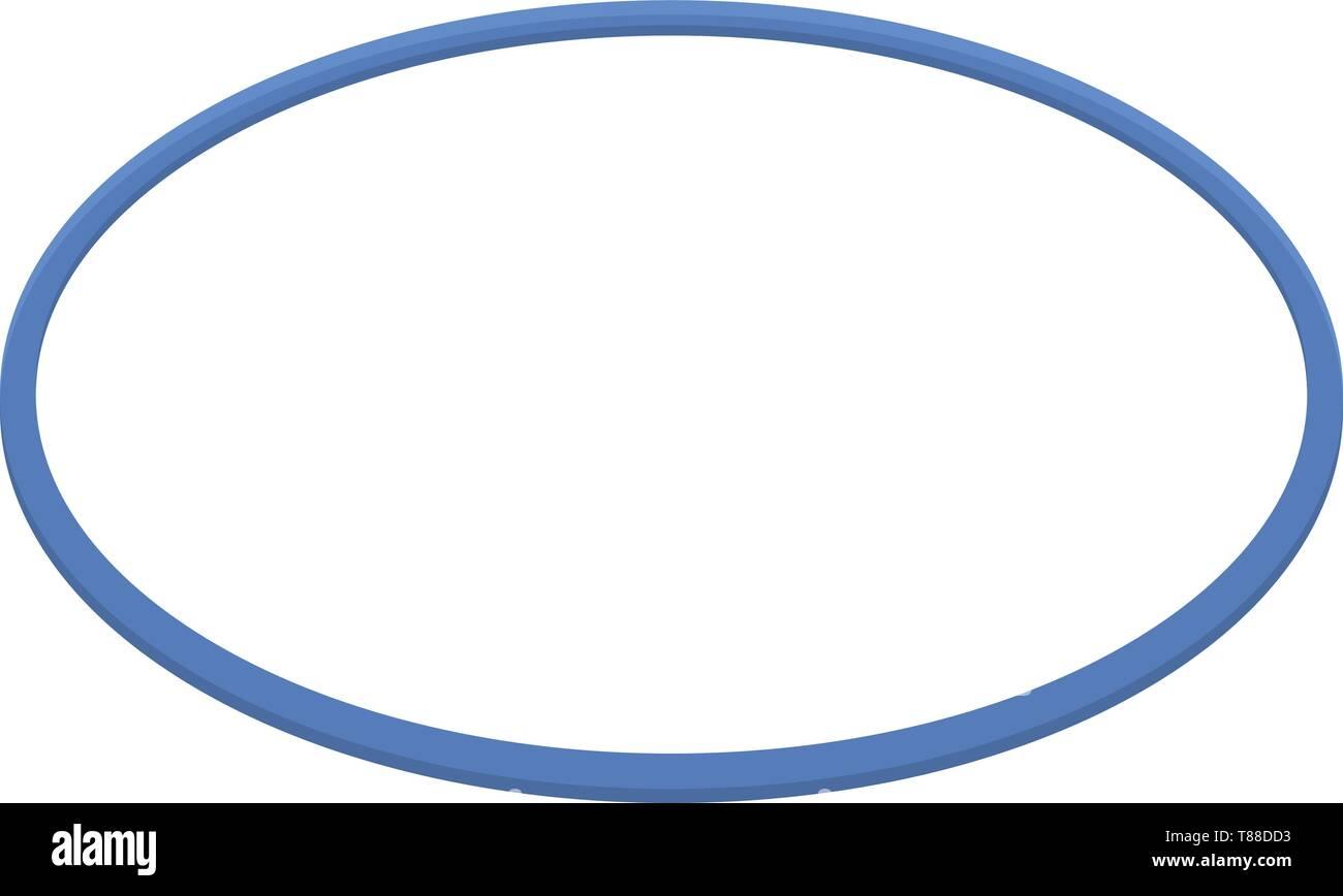 Gymnastic circle icon, isometric style - Stock Image