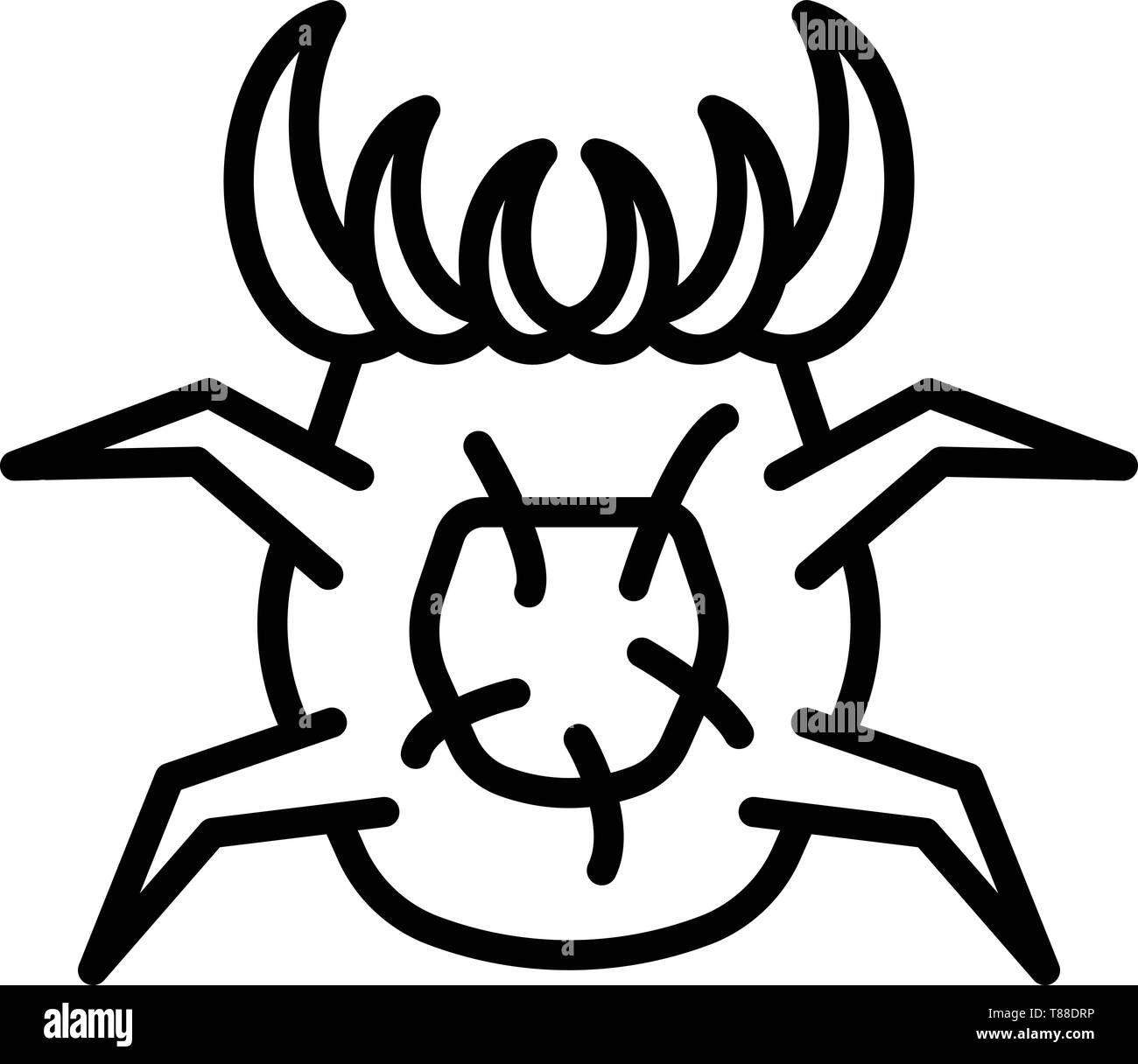 Dust mite icon, outline style - Stock Image