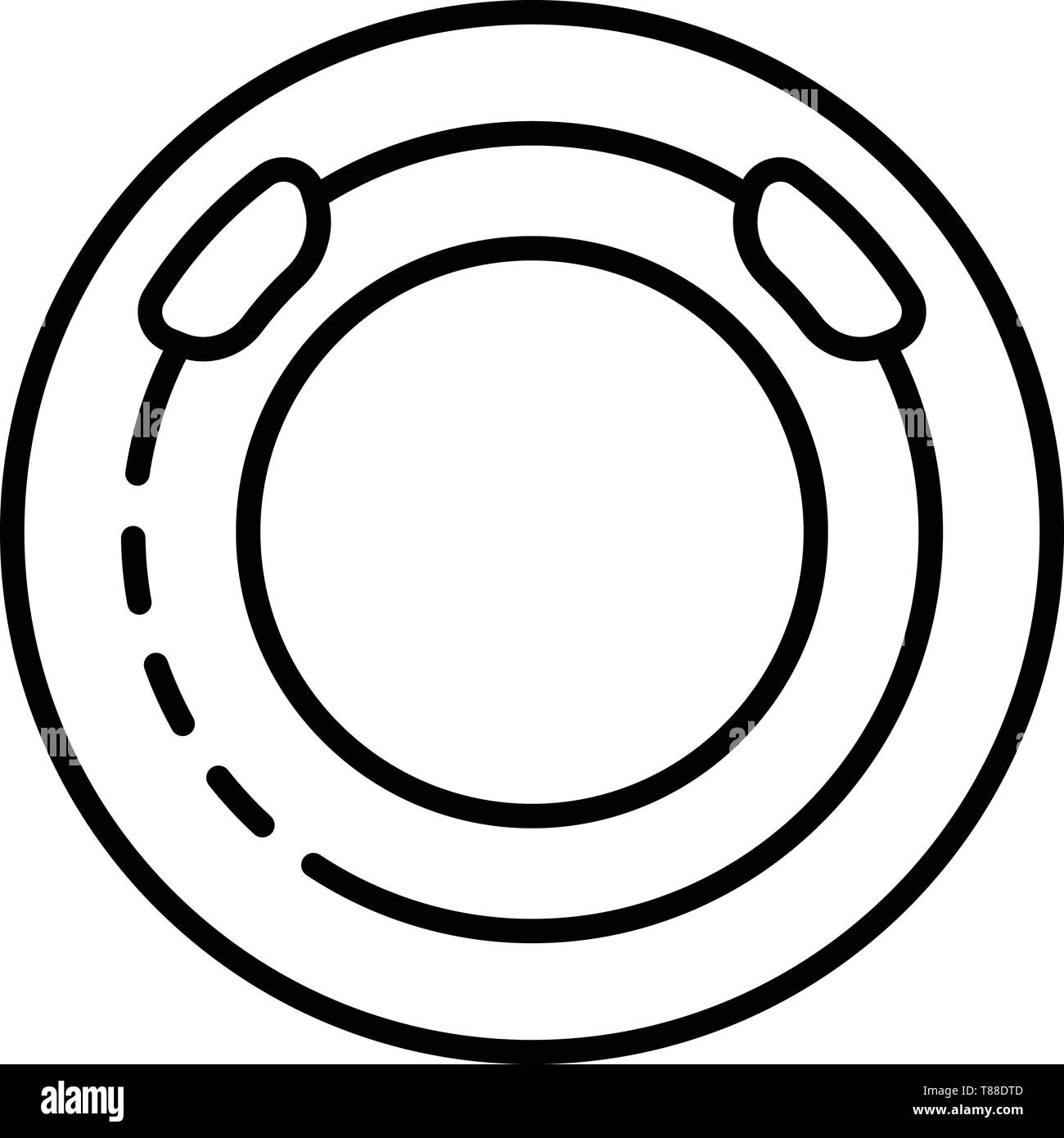 Round pool icon, outline style - Stock Image