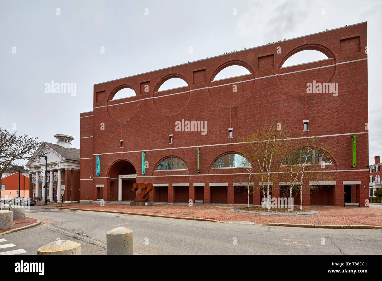 Portland Museum of Arts Charles Shipman Payson Building  in Porland Maine ME United States USA Stock Photo
