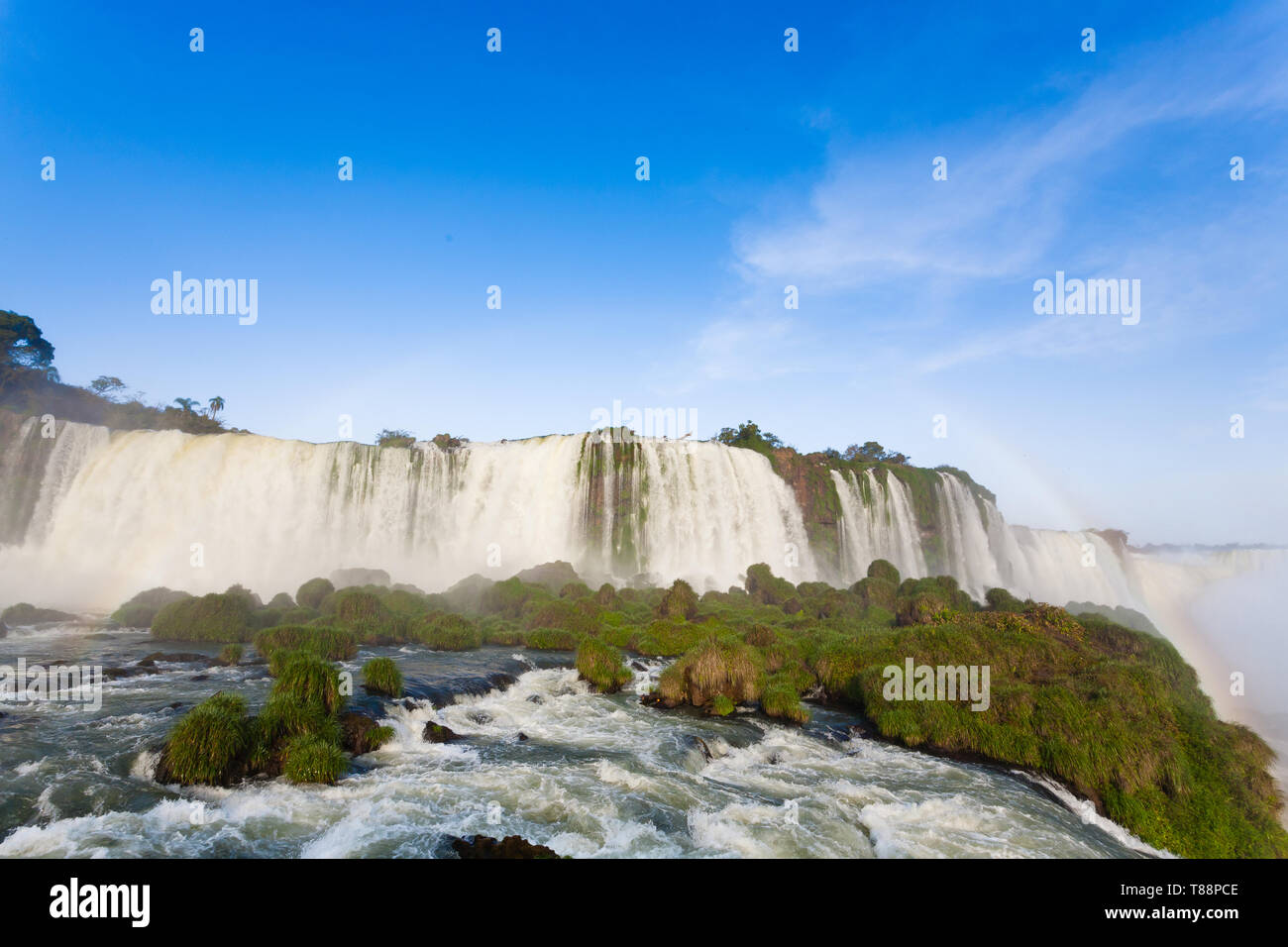Landscape from Iguazu Falls National Park, Argentina. World heritage site. South America Adventure travel - Stock Image
