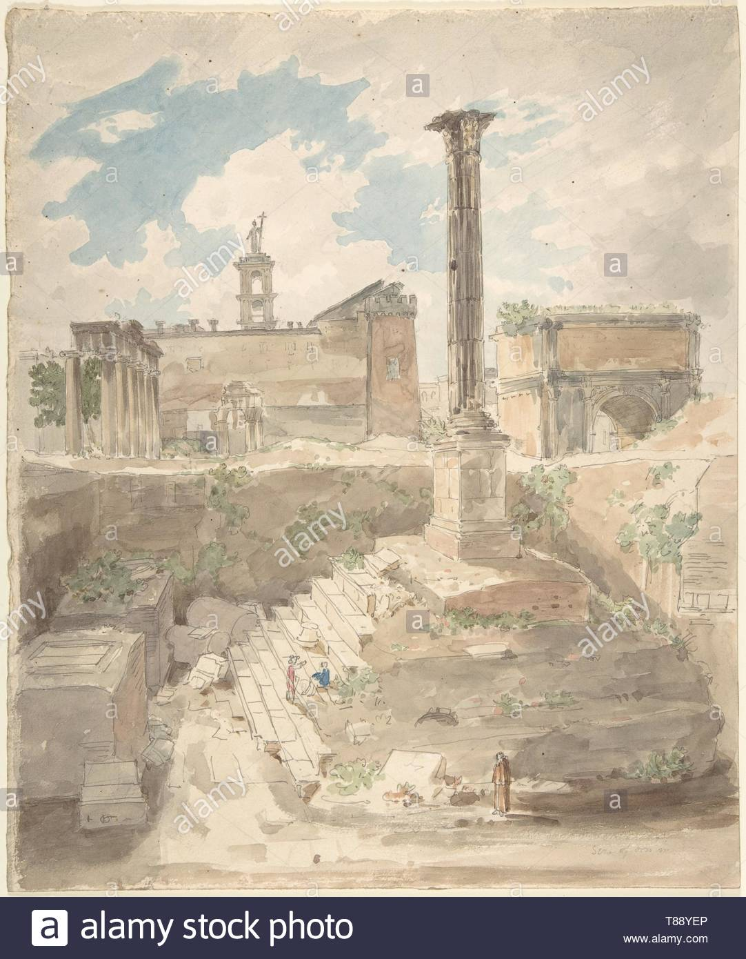 Sir Charles Barry-View of the Roman Forum, unexcavated - Stock Image
