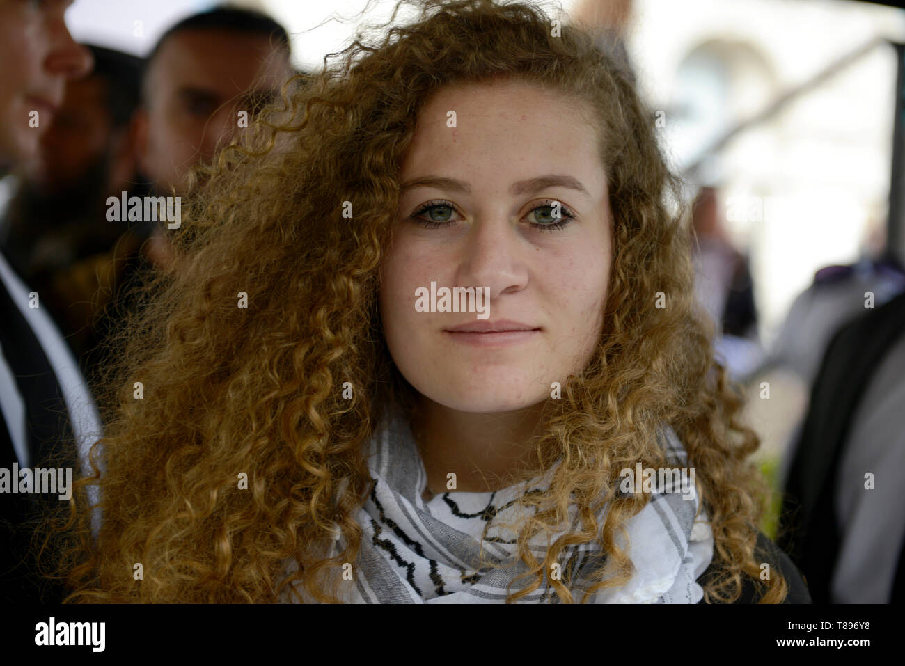 Palestinian human rights activist Ahed Tamimi seen taking