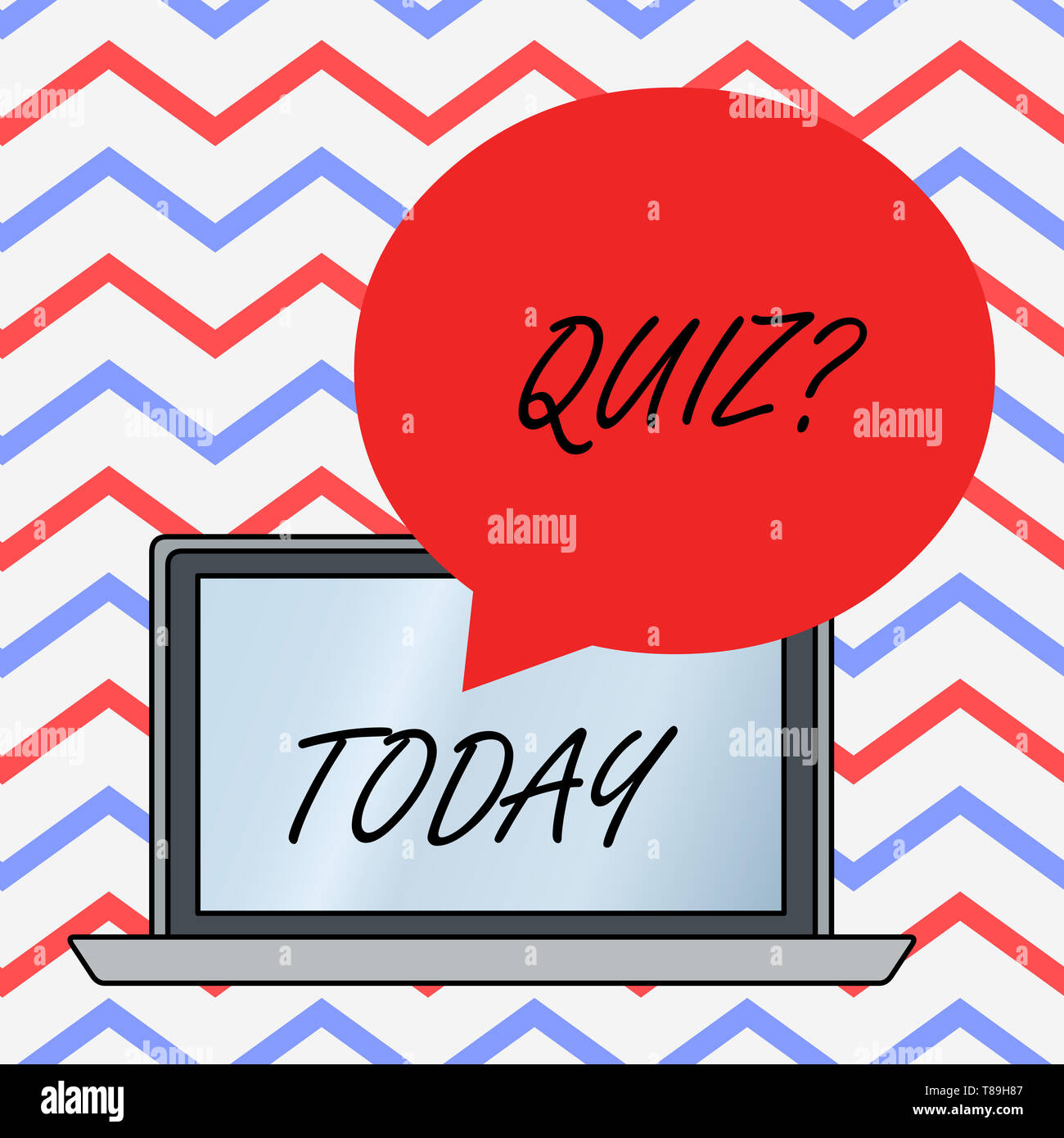 Text sign showing Quiz Question. Business photo text test of knowledge as competition between individuals or teams - Stock Image