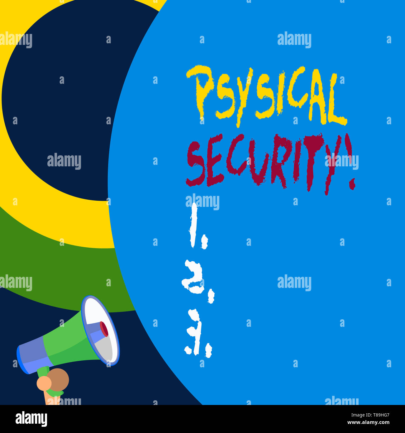 Handwriting text writing Physical Security. Conceptual photo designed to deny unauthorized access to facilities Stock Photo