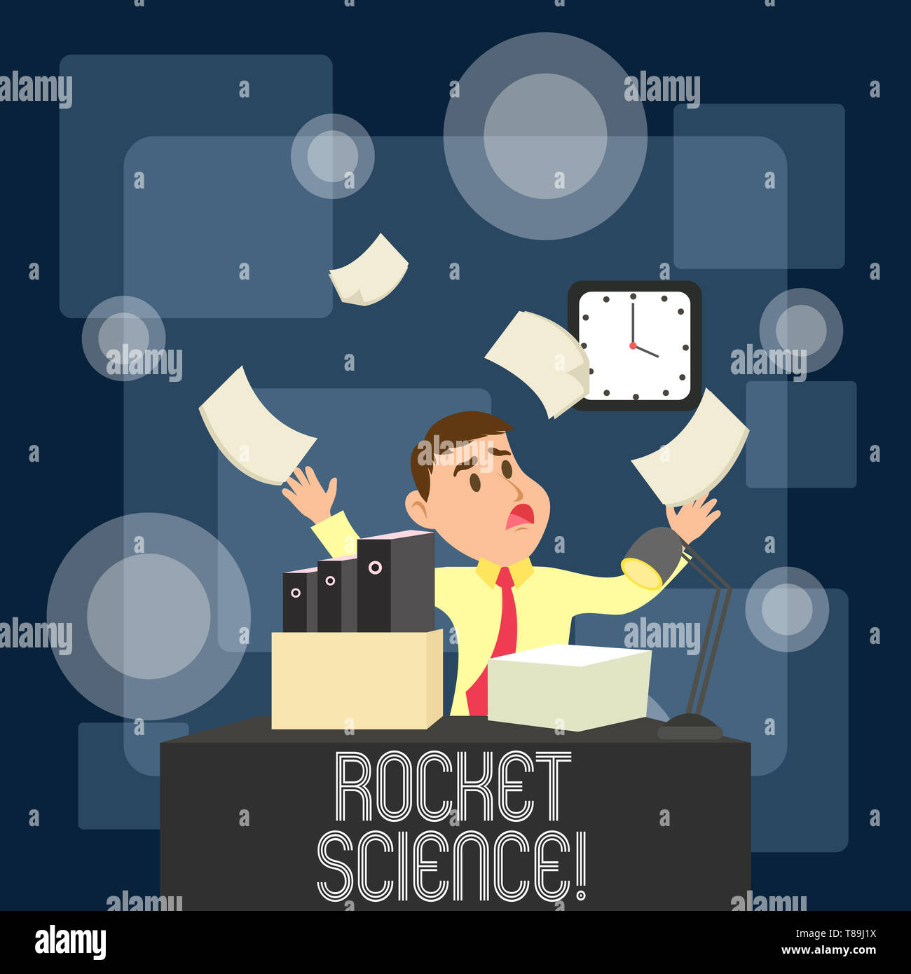 Writing note showing Rocket Science. Business concept for difficult activity that you need to be intelligent to do - Stock Image