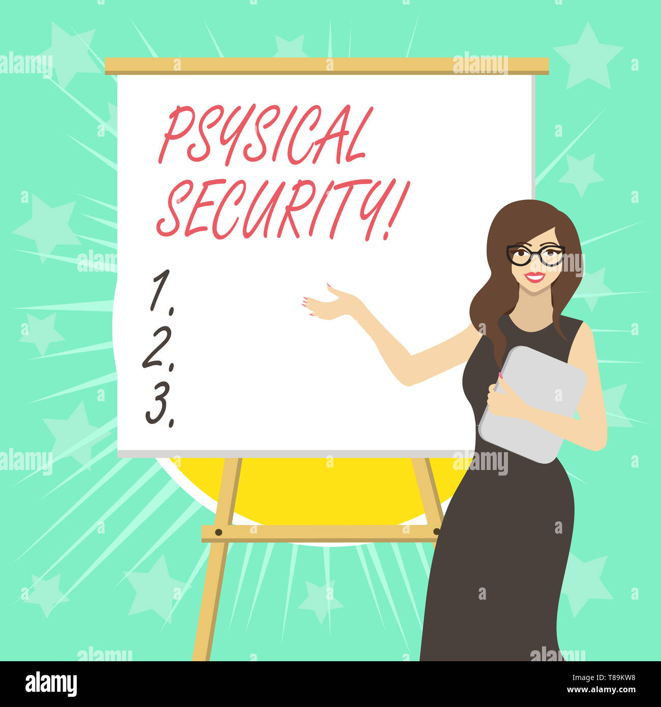 Text sign showing Physical Security. Business photo text designed to deny unauthorized access to facilities - Stock Image