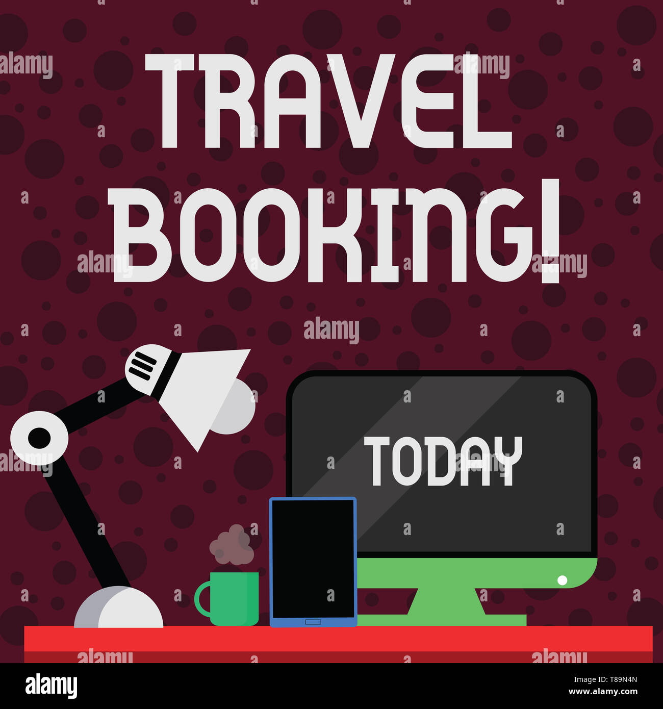 Conceptual hand writing showing Travel Booking. Concept meaning arrangement that you make when you book something for travel Arrangement for Nightshif Stock Photo