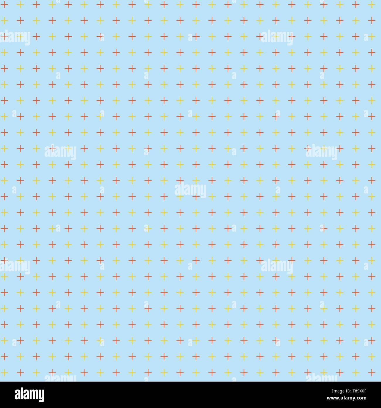 Infinite Endless Aligned Two Tone CrossStitch Plus Sign Pattern Repeated Design business concept Empty copy text for Web banners promotional material  - Stock Image