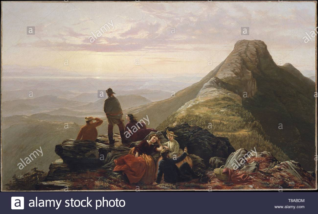 nameless-The Belated Party on Mansfield Mountain - Stock Image