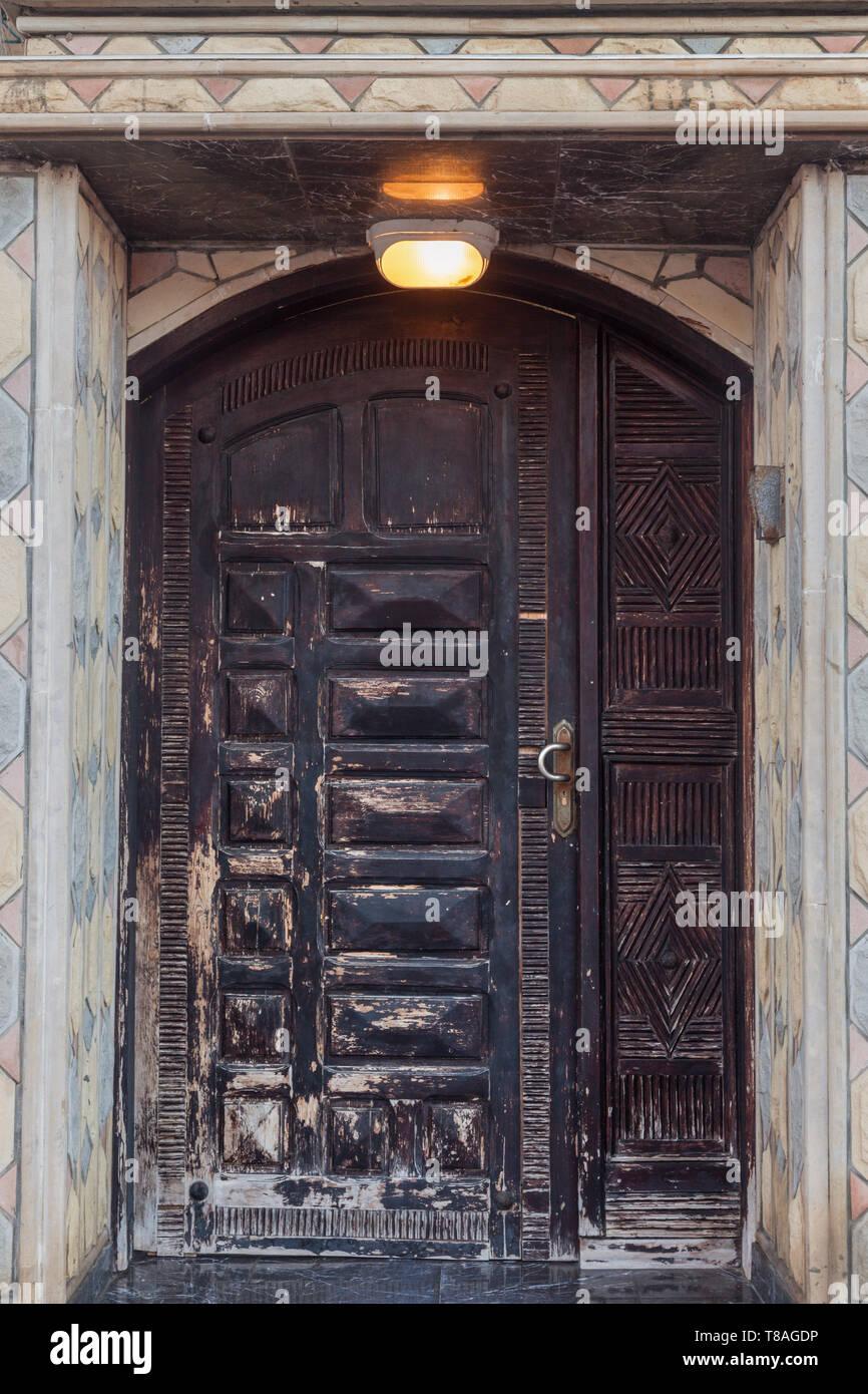 Old door in Dakhla. Dakhla, Western Sahara, Morocco. - Stock Image