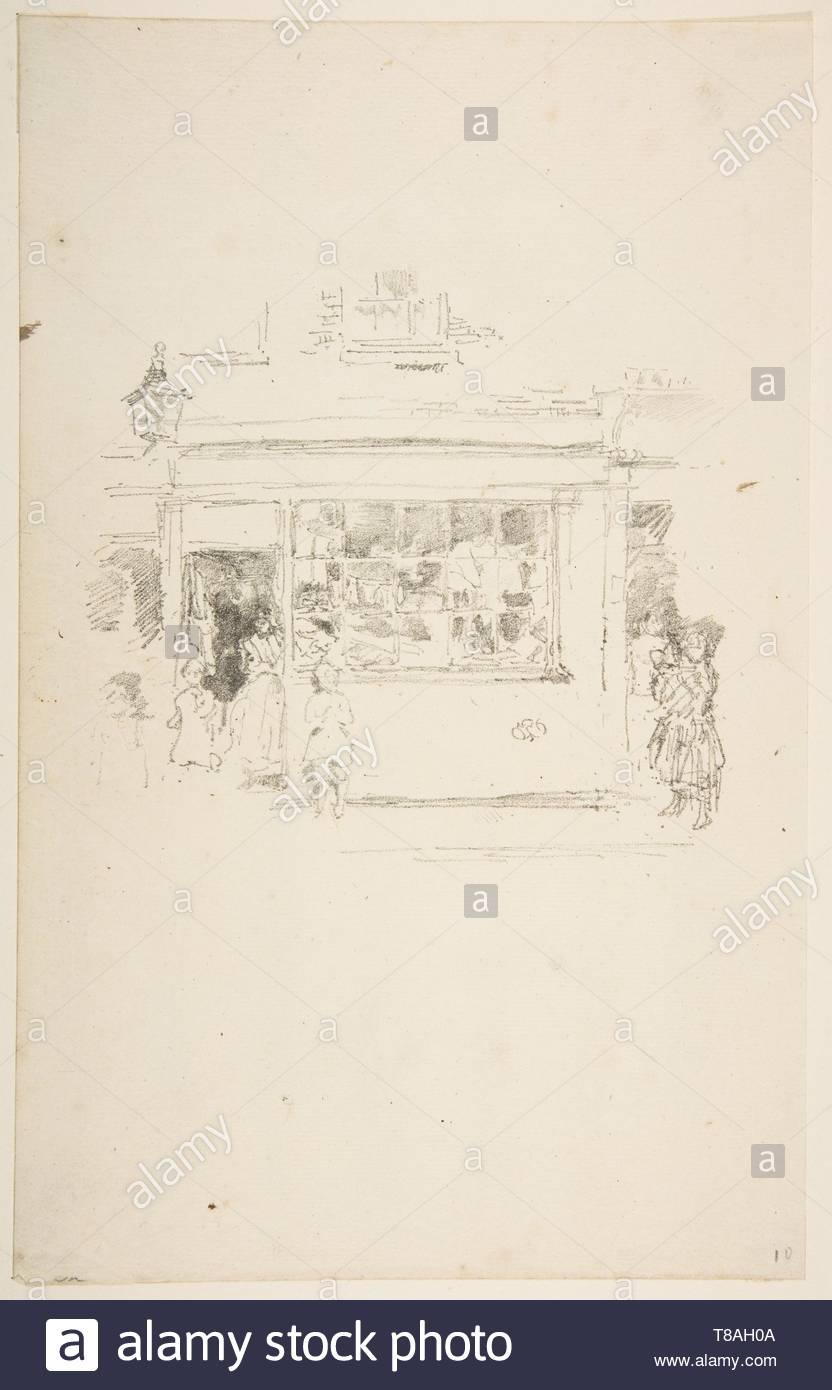 James McNeill Whistler-Drury Lane Rags - Stock Image