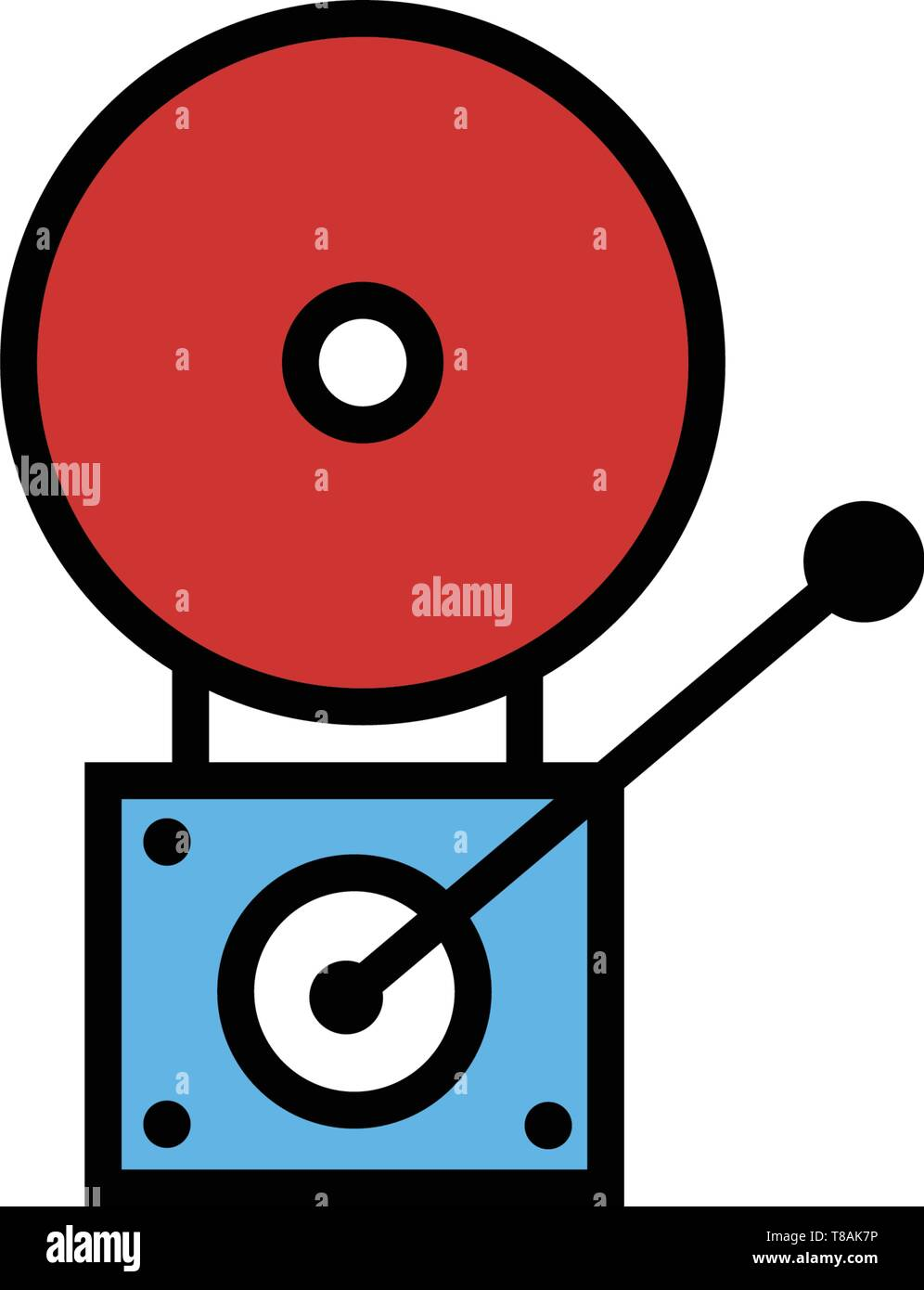 fire alarm icon. vector sign symbol - Stock Image