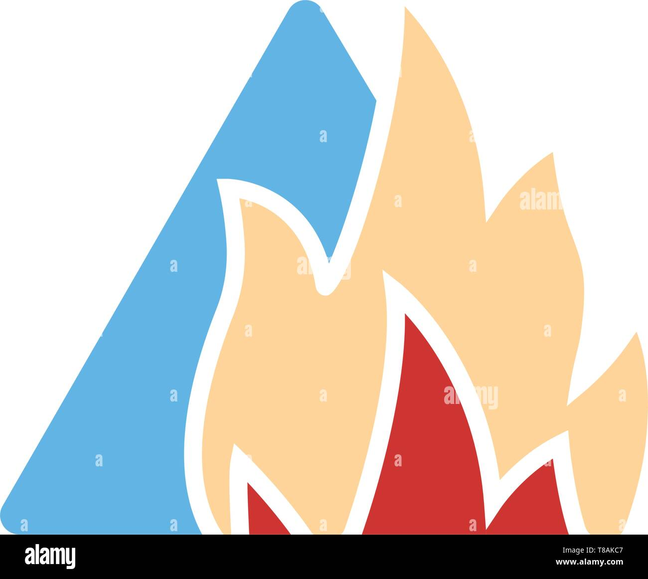 Fire sign- vector sign symbol icon - Stock Vector