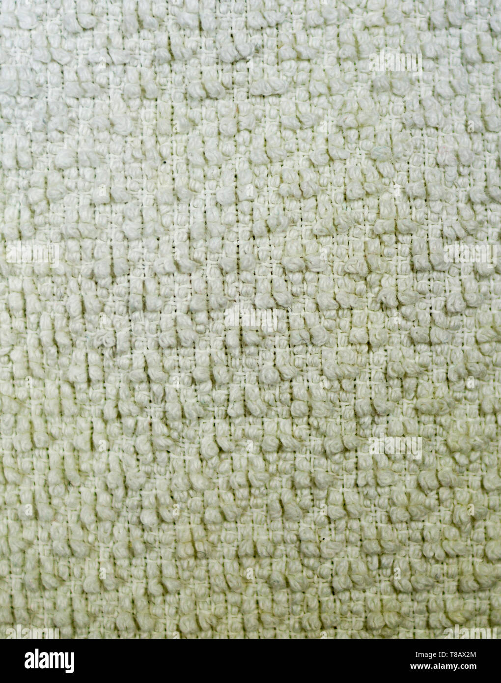white detailed fabric terry cloth texture close-up