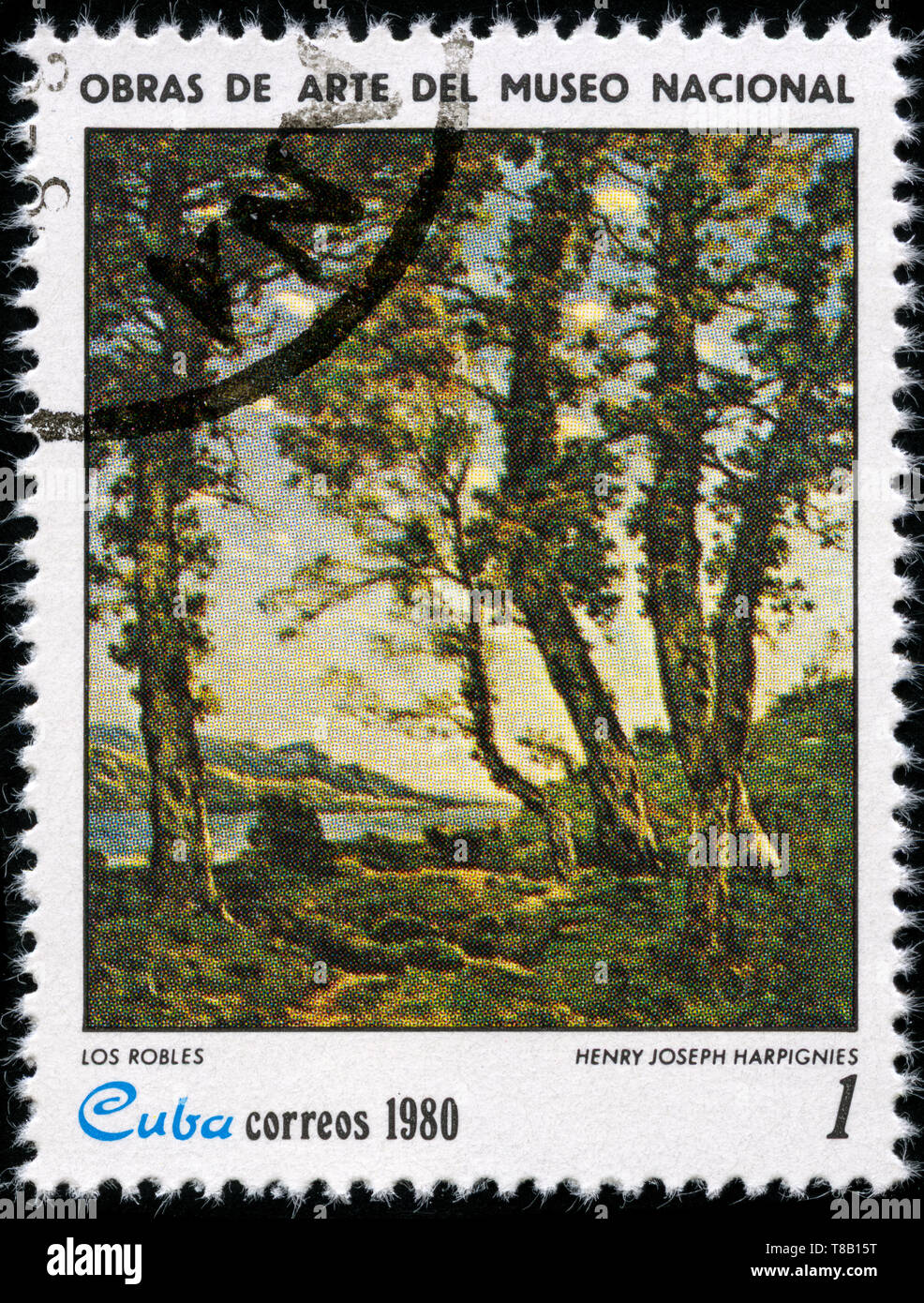Postage stamp from Cuba in the Paintings from the National Museum series issued in 1980 - Stock Image
