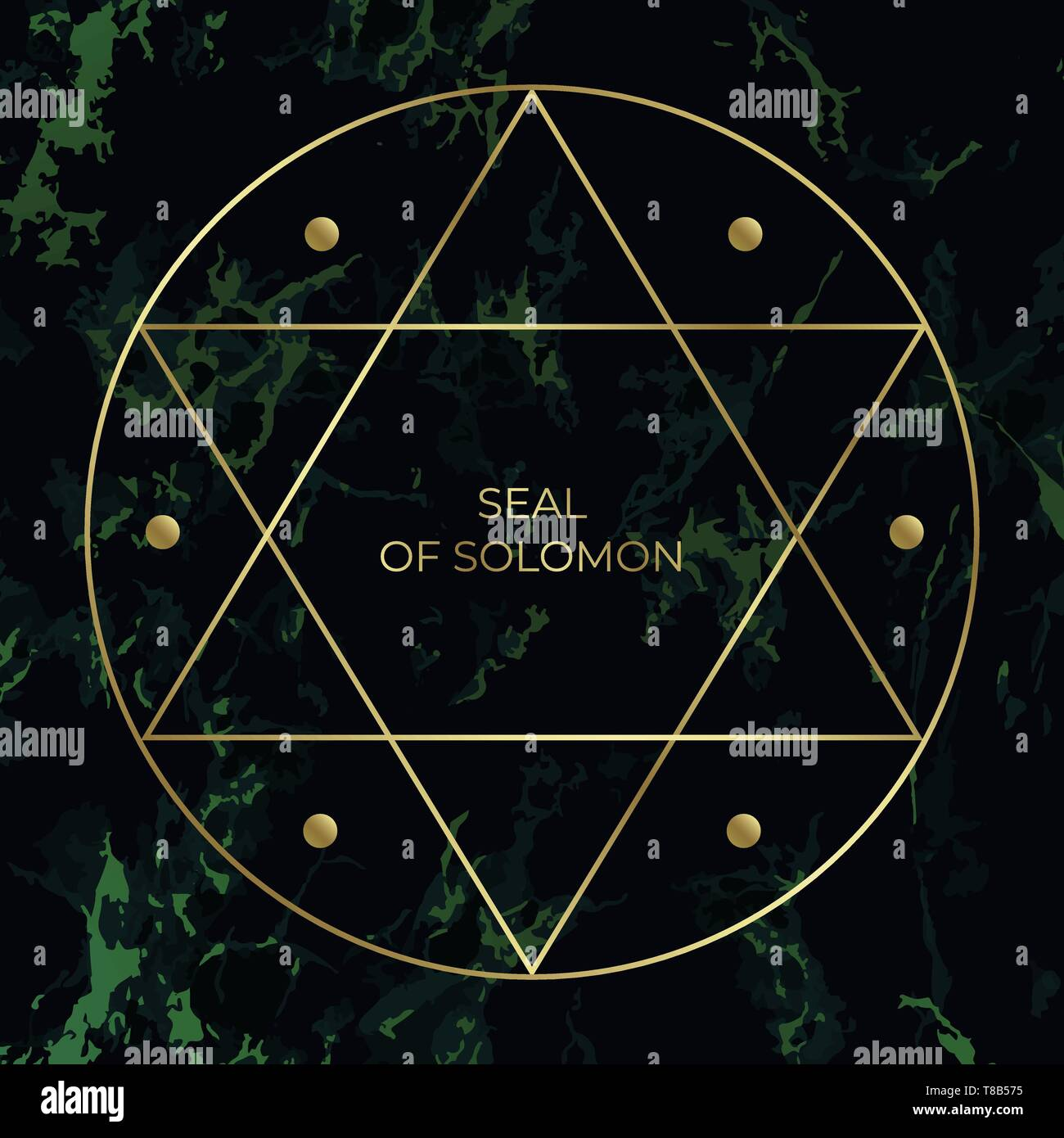 Star of David or the Seal of Solomon. Jewish Sign. - Stock Vector