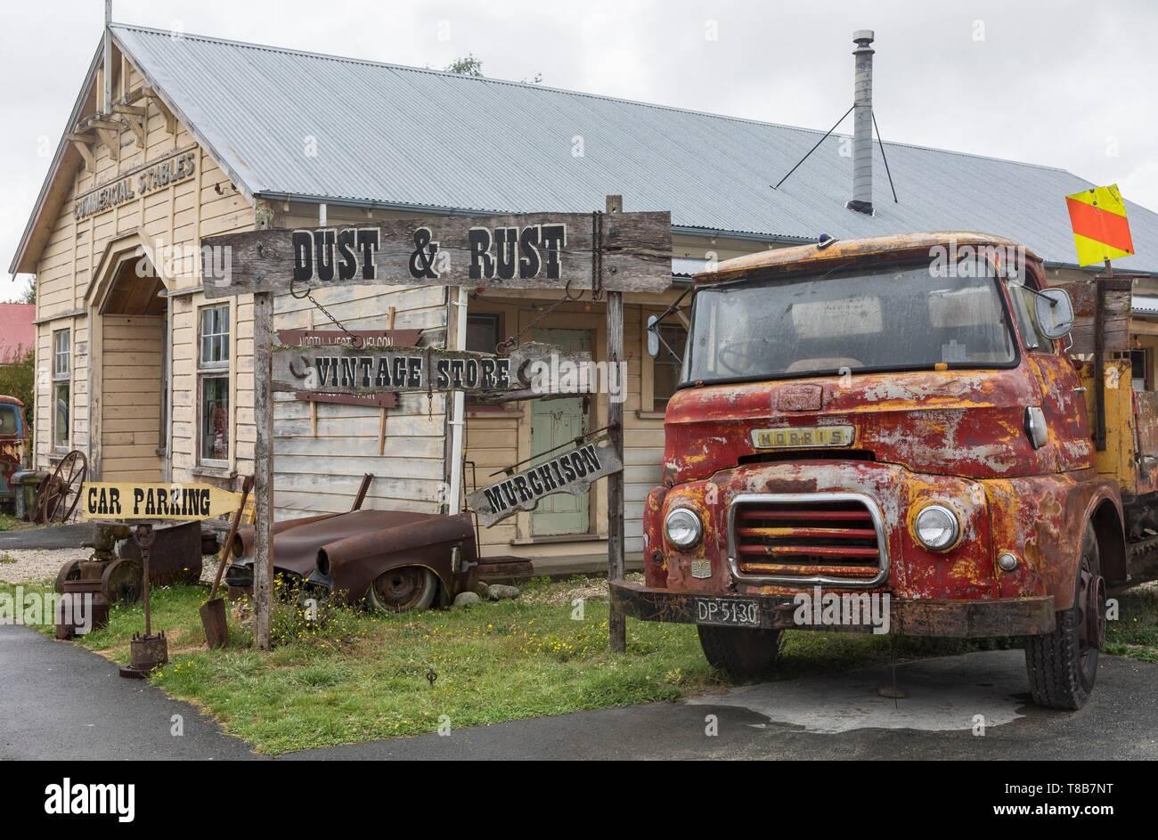 New Zealand, South Island, Tasman region, Murchison flea market - Stock Image