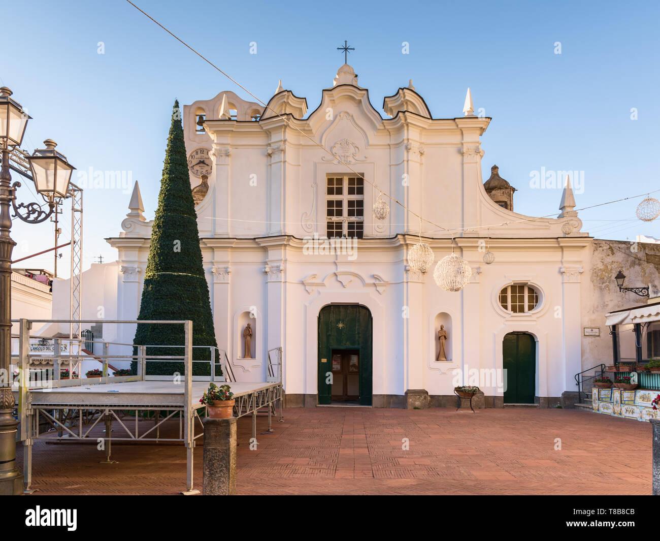 Chiesa di Santa Sofia, Anacapri, Italy Stock Photo