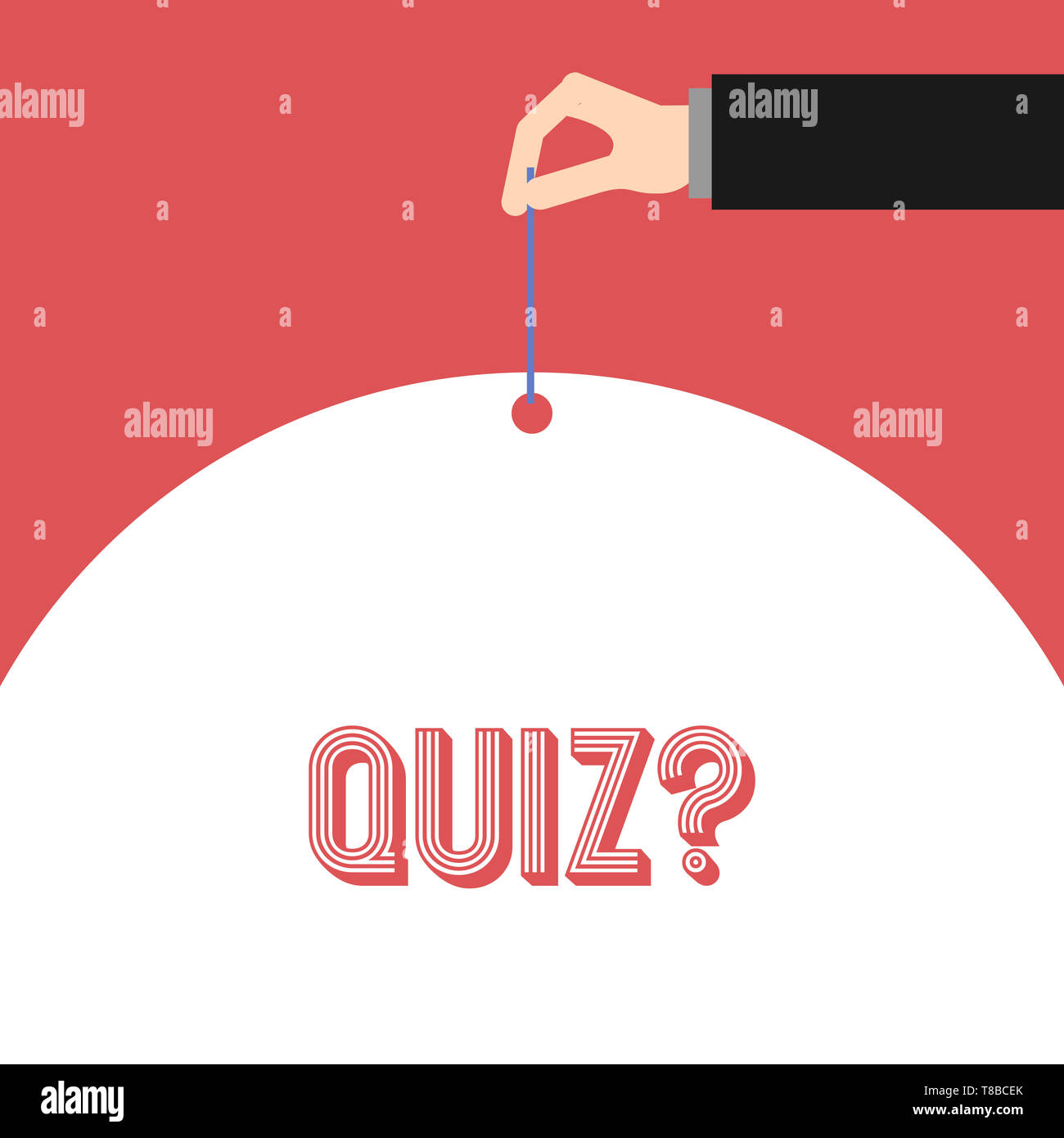 Handwriting text Quiz Question. Conceptual photo test of knowledge as competition between individuals or teams - Stock Image