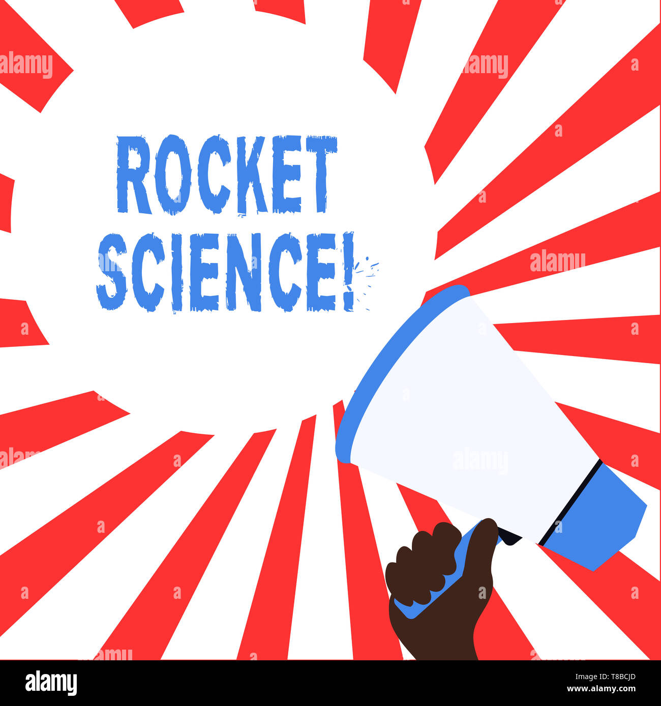 Word writing text Rocket Science. Business photo showcasing difficult activity that you need to be intelligent to do - Stock Image