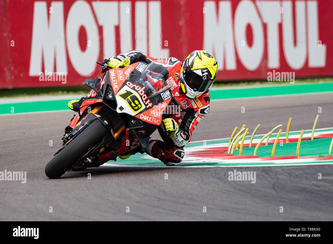 WorldSBK Superbike championship weekend in the italian circuit of Imola Dino and Enzo Ferrari Stock Photo
